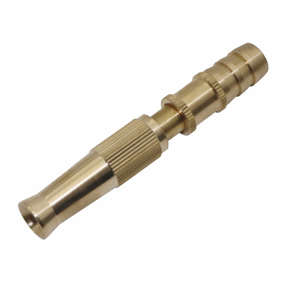Garden brass Adjustable spray gun Hose Nozzle High pressure straight copper gun for car wash watering flower garden hose wand
