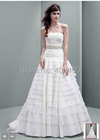 5d47d64266429 NEW! Strapless A line Drop Waist Organza Gown Style VW351221 Wedding ...