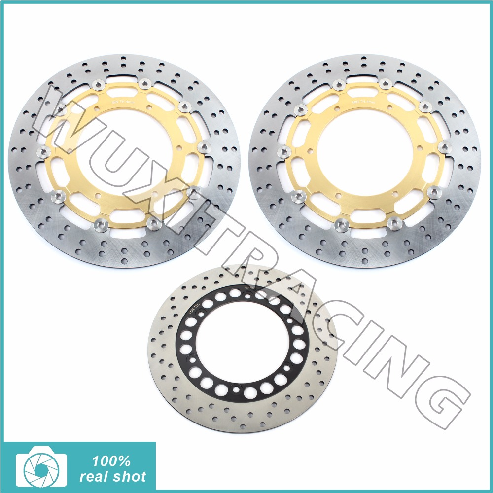 320MM+267MM New Black / Gold Front Rear Full Set Brake Discs Rotors fit for YAMAHA MT-01 MT01 MT 01 1670 2005 2006 05 06 mfs motor motorcycle part front rear brake discs rotor for yamaha yzf r6 2003 2004 2005 yzfr6 03 04 05 gold