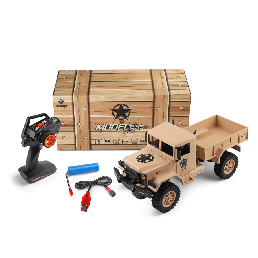 Rc Car News >> Us 114 0 News Arrival 124302 Wltoys 2 4g Rc Car 1 12 Military Truck 4wd Remote Control Vehicle Army Truck Electric Toy For Boys Gifts In Rc Trucks