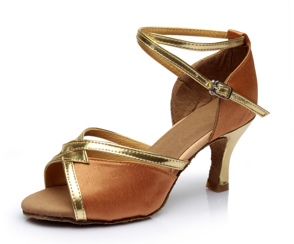 Women Latin Ballroom Dance Shoe Ladies High Heels 5.5/7.5 cm Girls Salsa Sandals Party Tango ChaCha Samba Dance Shoe T35