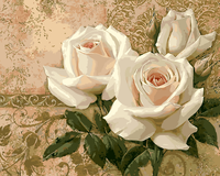 White Rose DIY Frameless Pictures Painting By Numbers DIY Digital Canvas Oil Painting Home Decor For