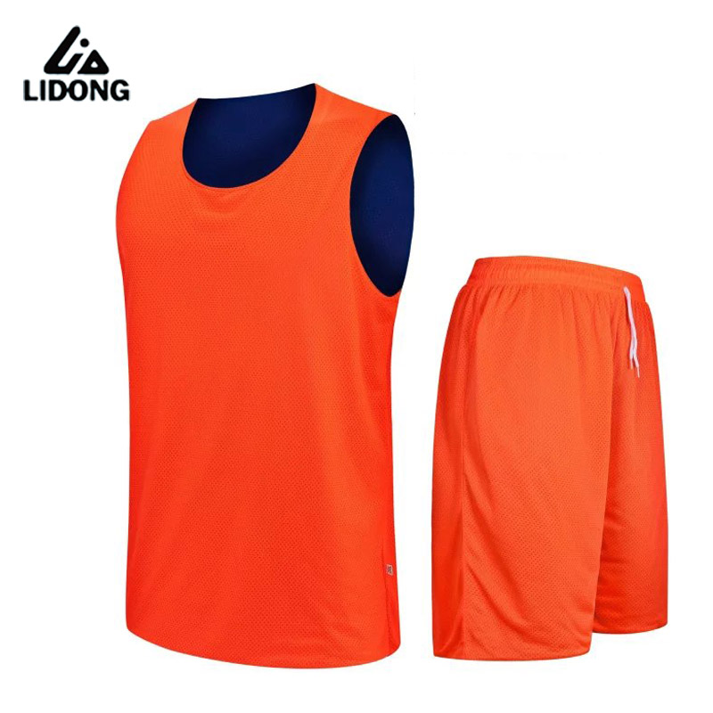 Girls Kids Youth Boys Reversible Basketball Jersey Sets Team Uniforms Shorts Shirts Sport Kits Clothes Double-sided Draw Print
