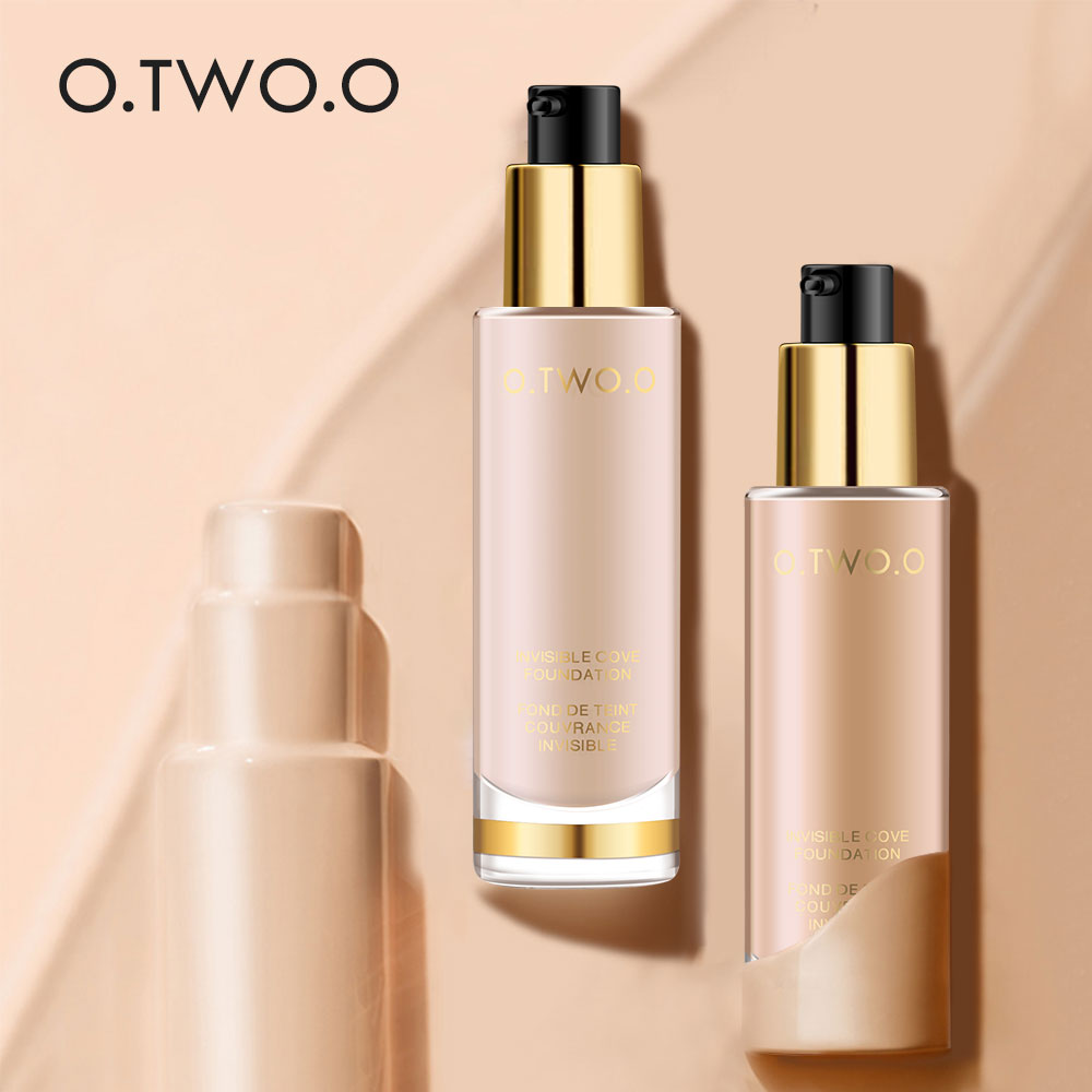 O TWO O 8 colors Liquid Foundation Invisible Full Coverage Make Up Concealer Whitening Moisturizer Waterproof Makeup Foundation in Concealer from Beauty Health