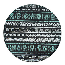 Computer Round Mouse Mat Round Mice Pad White and Blue Bars Deep blue bar Palace Flowers коврик для мыши коврик для мыши ritmix mpd 045 buble blue