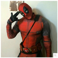 Free Shopping Deadpool Cospaly Costume Full Body Optional Belt And Braces Stereo 3D Super Hero Cospaly