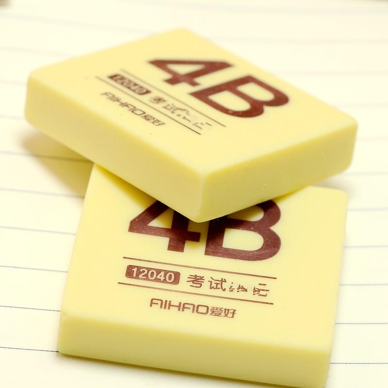 4B Pencils Eraser Writing Drawing Eraser Rubber Pencil Eraser-Art Drawing Artist Student Stationery For Office School