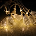 20led Battery Operation LED Metal Drip String Lights Patio Wedding Party Christmas Lights Bedroom Holiday Decoration