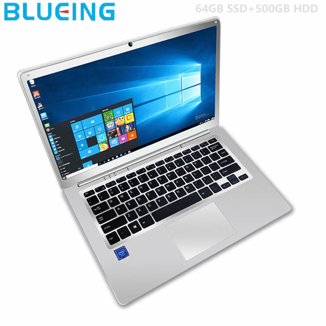 14.1 inch Gaming laptops pc 6GB/64GB+500GB  HDD  ultra-slim Intel N3450 HD 1920*1080  Windows 10 computer  free shipping