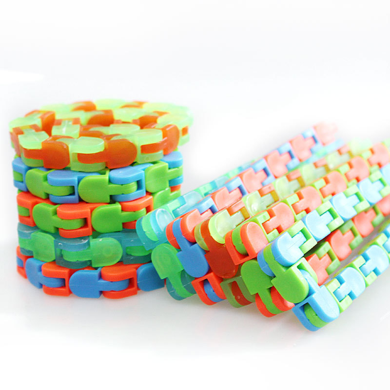 Wacky Tracks Snap And Click Fidget Toys Kids Stress Relief Autism Snake Puzzles Classic Children Funny Fiddle Sensory Toy