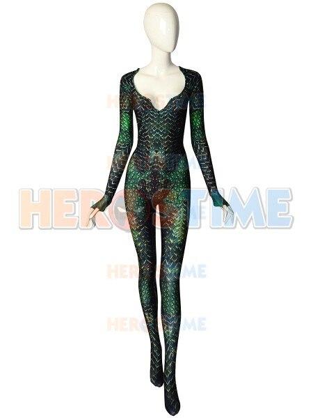 Mera Justice League Undersuit Superhero Costume Movie Aquaman Wife Mera Cosplay Costumes can custom made