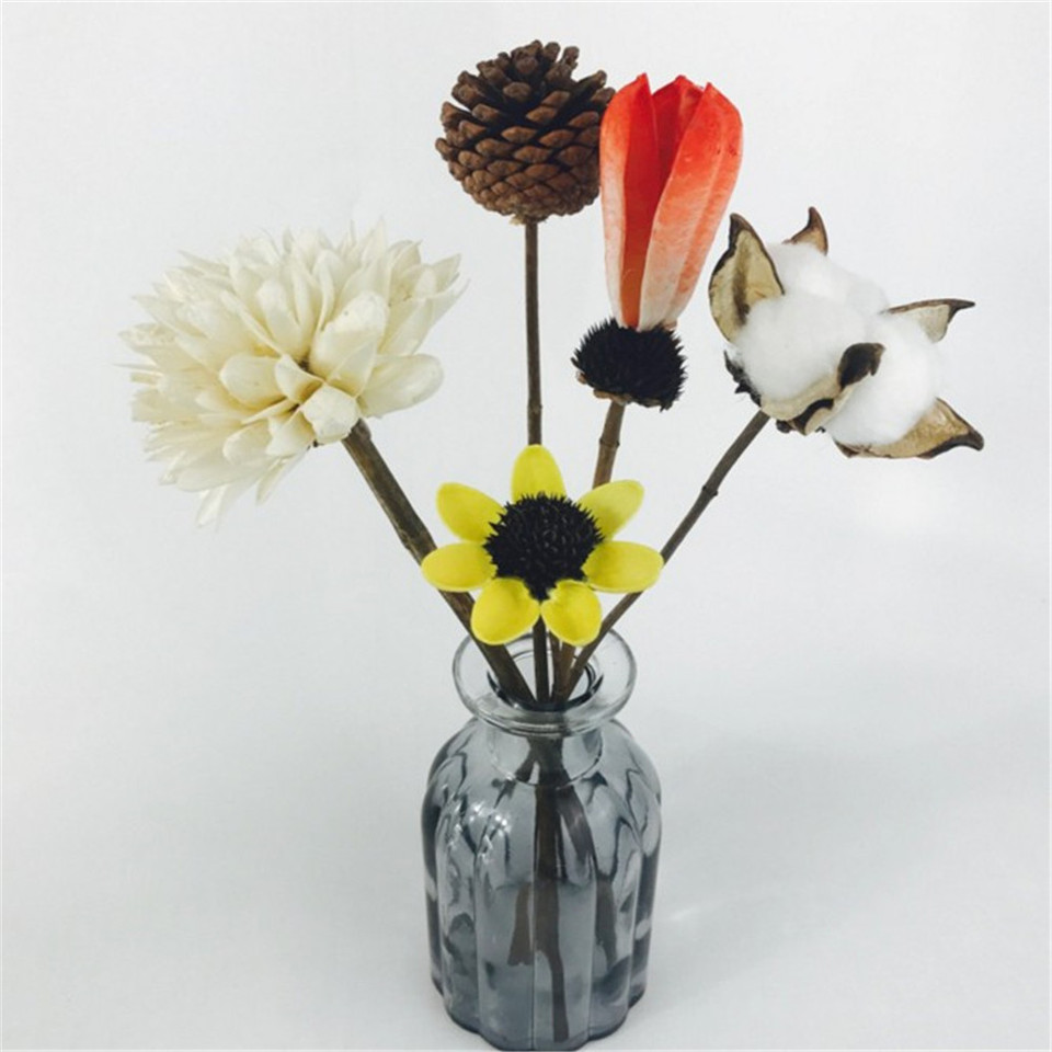 Narrow Mouth Vases Art Glass Crystal Flower Hydroponic Bottle For Table Blue Grey Flowers Not Included Vases Aliexpress