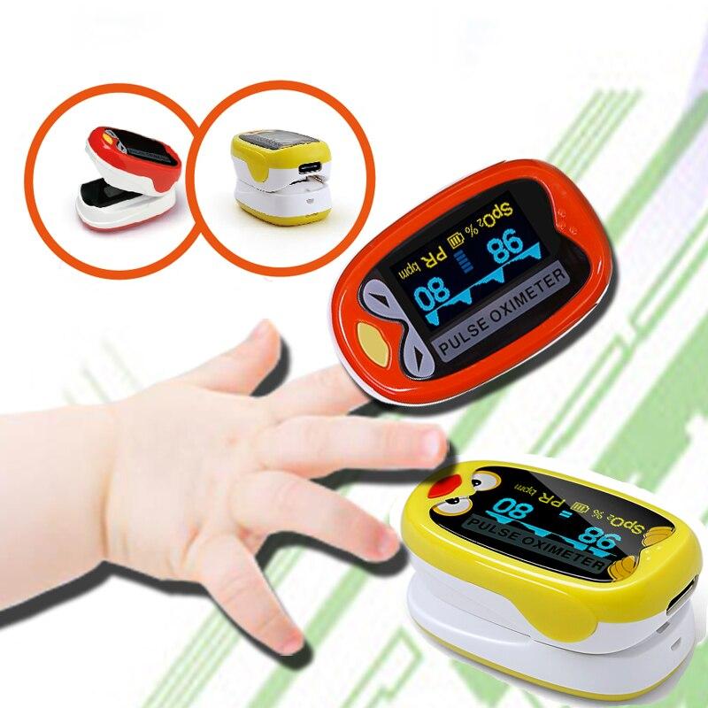 Pediátrica/Criança oxímetro de pulso Dedo para As Crianças 1-12 anos Pulsoximeter oxímetro medidor de oxigeno de equipamentos médicos em casa