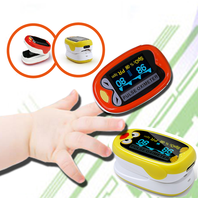 Pediatric/Child Pulse oximeter Finger for Kids 1-12 years oximetro Pulsoximeter medidor de oxigeno home medical equipment image