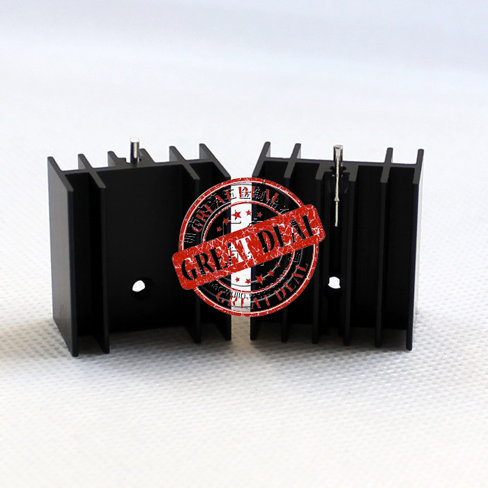 Free Ship 100PCS Custom High Quality Aluminum Heatsink  25*23*16MM To220 Heatsink