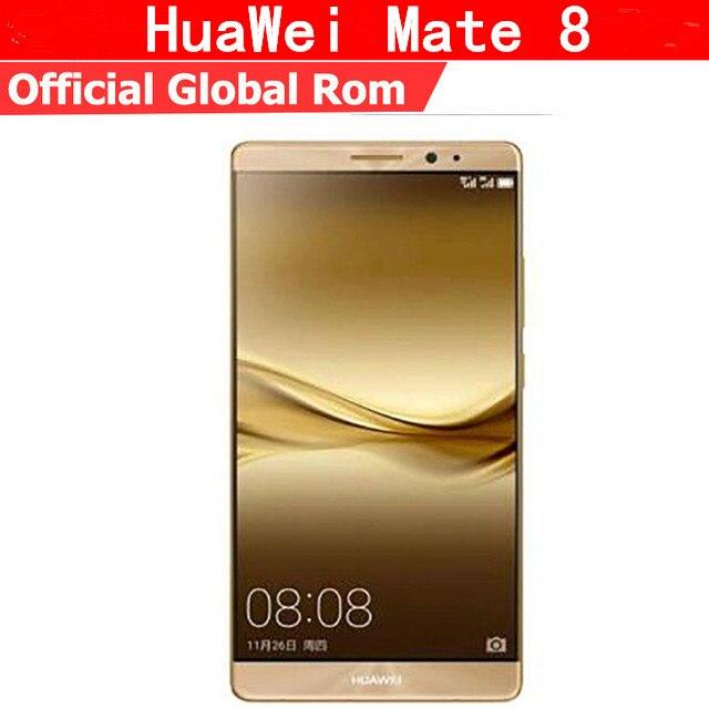 """Международная прошивка Huawei Mate 8 4 г LTE сотовый телефон Kirin 950 Android 6,0 6,0 """"FHD 1920X1080 4G B оперативная память 128 ГБ Встроенная NFC Touch ID"""