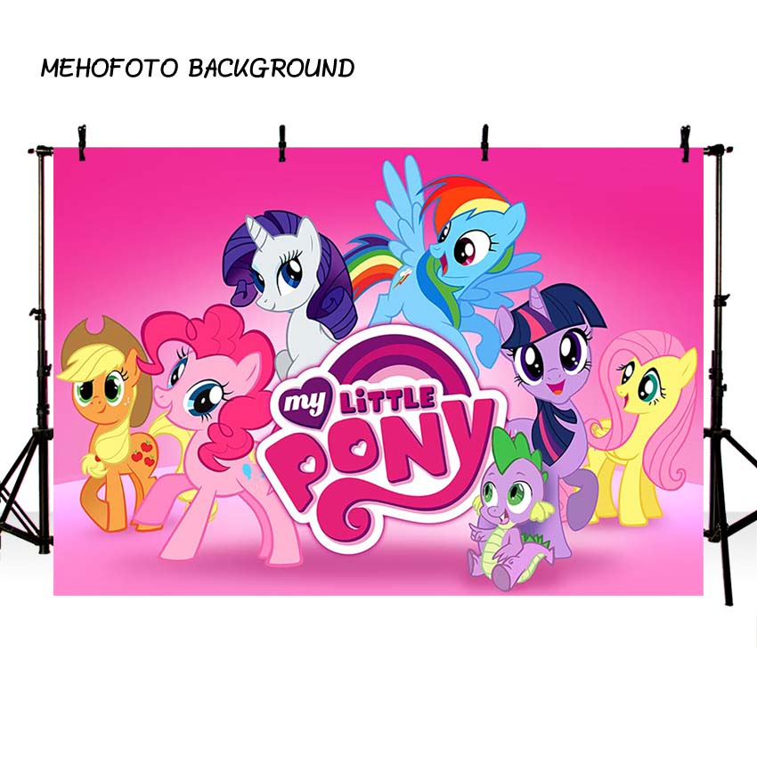 Photography backdrop My little Pony Birthday Party Cartoon Photo Background baby pink Prop background for photo studio photocall wireless programmable room heating thermostat for electric heating panel radiator actuator gas boiler digital temperature screen