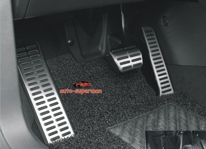 Fuel Brake Foot Rest AT Pedals FOR VW Tiguan Automatic transmission 2009-2012 brand new 3pcs aluminium non slip foot rest fuel gas brake pedal cover for mazda 3 at 2011 2015