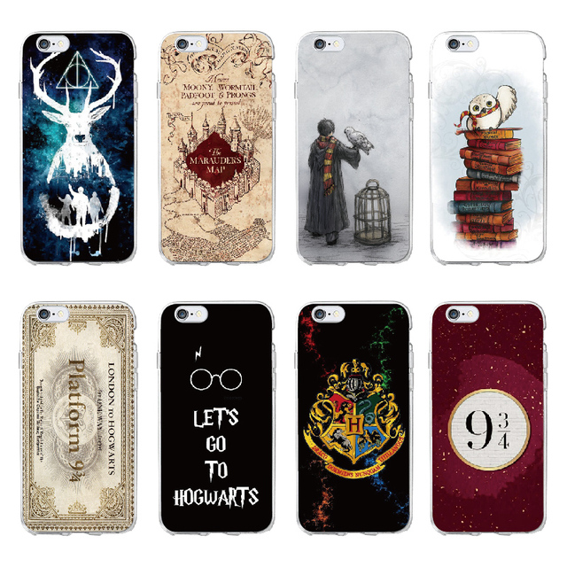 huge selection of 94f1a d303b Harry Potter Hogwarts Pattern Design Soft Silicone Phone Cases Cover for  Iphone 7 6 6S 8 Plus 5S SE X XS Max Coque Fundas Capa-in Fitted Cases from  ...