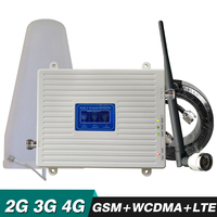 2G 3G 4G Tri Band Booster 70dB GSM 900 UMTS WCDMA 2100 LTE 2600 MHz Cell Phone Signal Repeater Cellular Mobile Signal Amplifier