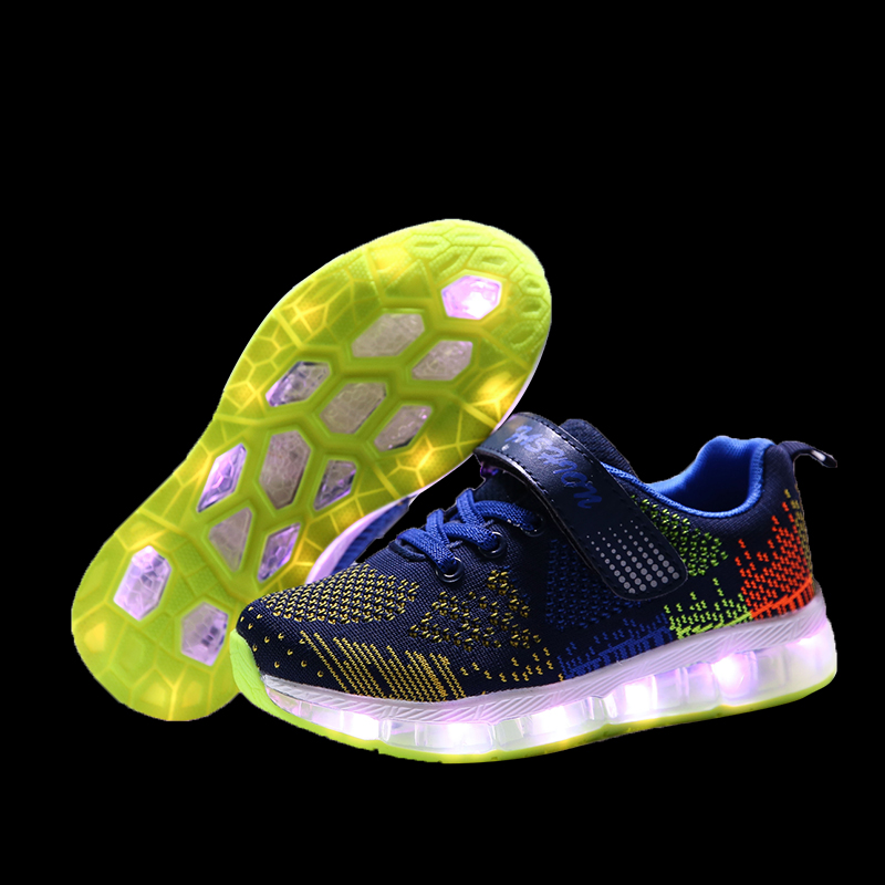 Warm like home 28-35 Size/ USB Charging Basket Led Children Shoes With Light Up Kids Casual Boys&Girls Luminous Sneakers Glowing
