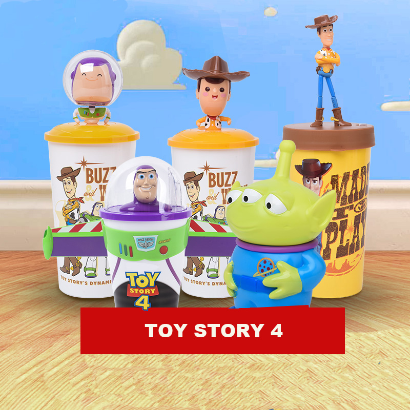 New Toy Story 4 Toys Dolls Woody Buzz Lightyear Forky Head Cups Toy Story 4 Action Figure Doll Figure Christmas Gift