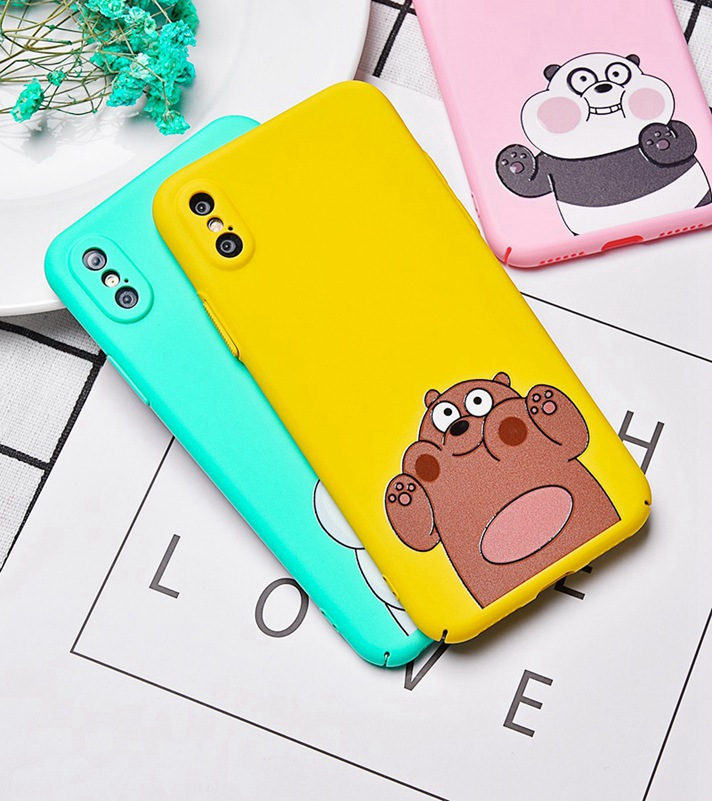 Artisome Bear Phone Iphone 7 6 6S Plus Cute Case Funny Cartoon Hard PC Cases For Iphone X 8 7 Plus Cover Fundas