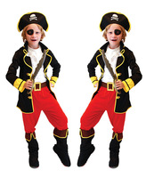 Halloween Costumes Stage Costumes Boys Clothing Sets Kids Suit For Children Caribbean Pirates Of The Eye