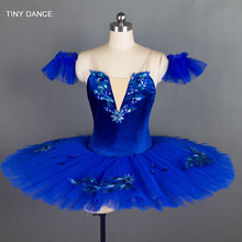 7 Layers of Stiff Tulle Royal Blue Classical Ballet Dance Costume Pancake Tutu Dress Professional Ballet Tutu Costumes BLL027