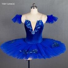 7 katmanlar tül kraliyet mavi klasik bale dans kostümü gözleme Tutu elbise profesyonel bale Tutu kostümleri BLL027