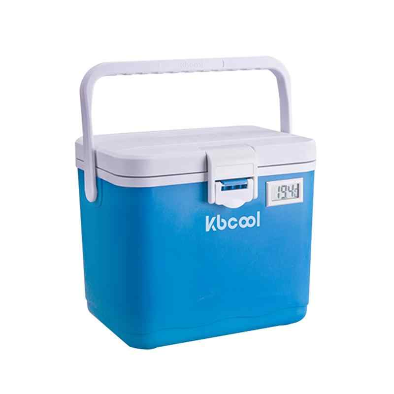 1pc Car Thermal Box Outdoor With 6 Ice Bags Food Drinkd Container Plastic Insulated Box Cooler Incubator Refrigerator