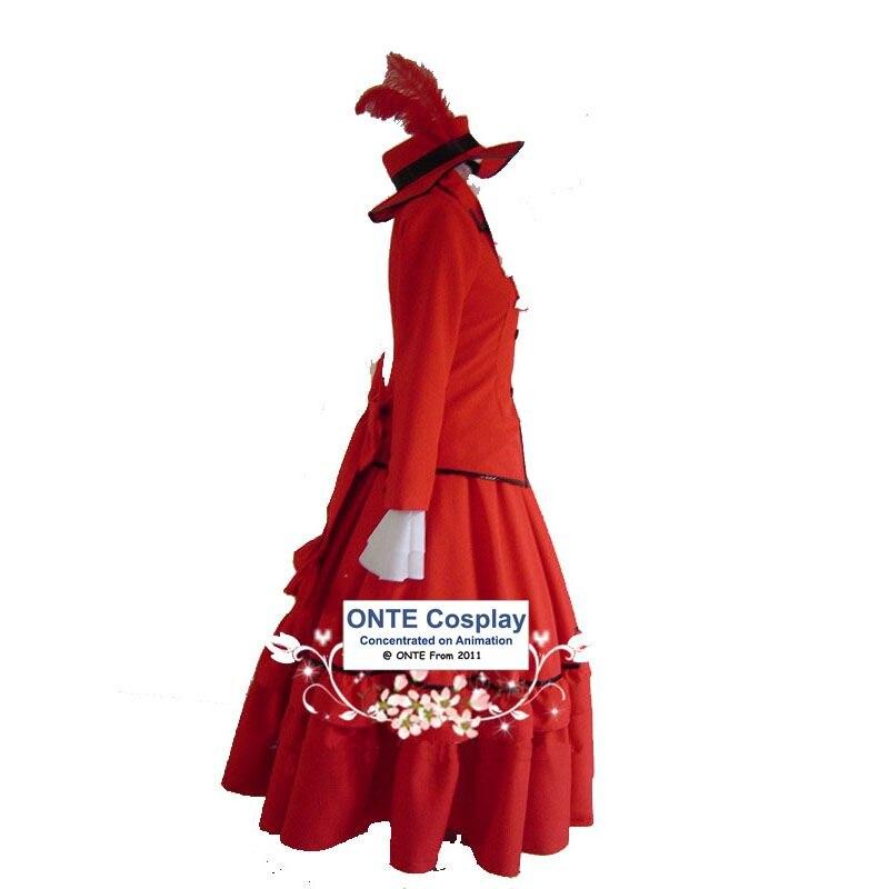 Anime Black Butler Jurken Cosplay Kostuums Madam Red Fancy Party - Carnavalskostuums - Foto 2