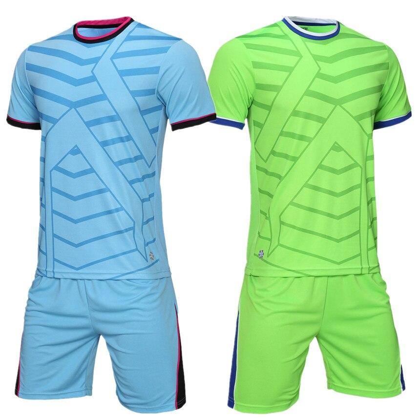 115f657b7ac Professional club Soccer Jersey Set survetement Football Kits Adult Men  youth Futbol game Training Uniforms set De Foot shorts