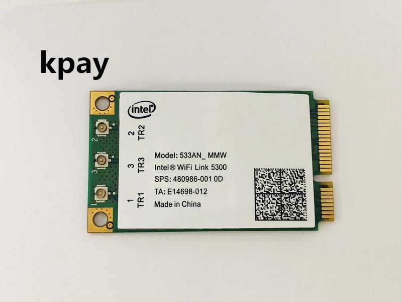 INTEL 5300 AGN 802.11n Mini PCI E Wireless N Card 300Mbps 2.4G/5G WIFI 533AN Kpay