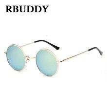 RBUDDY Children Sunglasses for boys grils kids Round Fashion Eyewear Metal Frame Brand Designer Cute Small Sun glasses UV400