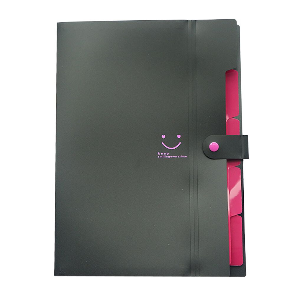 A4 File Document Folder Holder Bag Pouch Bill Folder Holder Organizer Fastener School Students Office Supplies