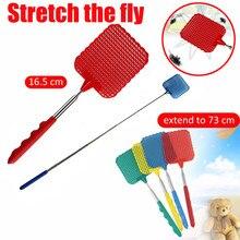 Пластиковая телескопическая Выдвижная мухобойка для предотвращения вредителей комаров инструмент для москитной ловли ракетка для мыши tapette a mouche