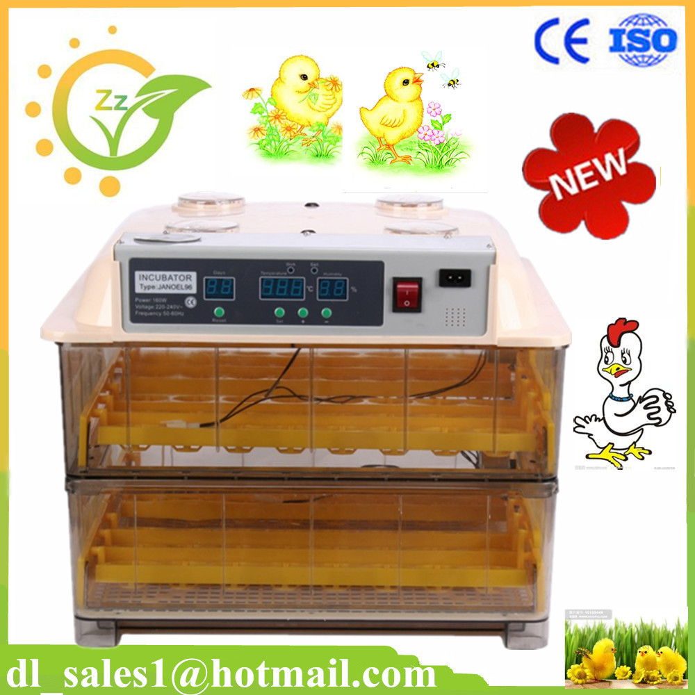 home use poultry hatching machine Digital Fully Automatic Chicken Hens Ducks 96 Eggs Incubator