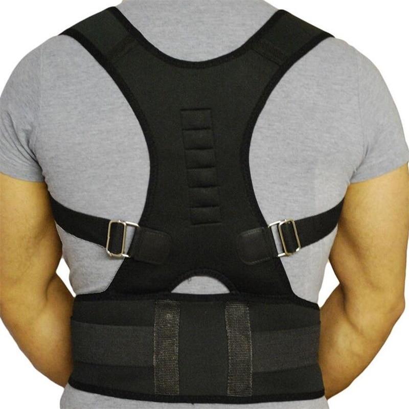 Shoulder Back Belt New Magnetic Posture Corrector Neoprene Back Corset Brace Straightener Spine Support Belt for Men Women