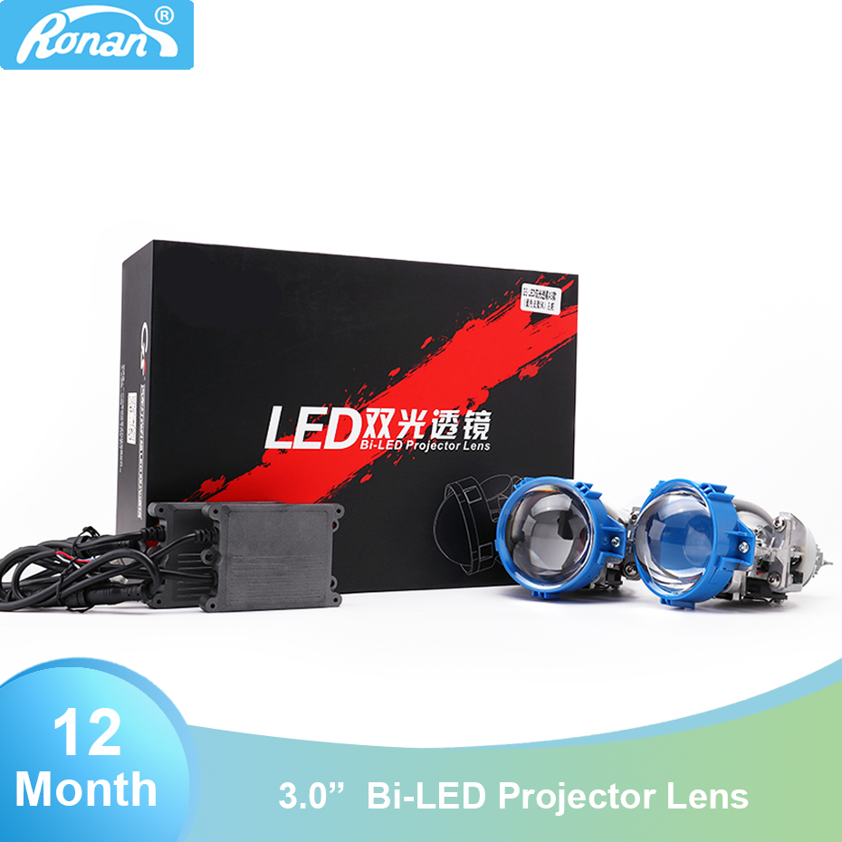 Ronan Bi LED Projector Lens 3 0 36W A1 A3 White High Low Beam For Automotive