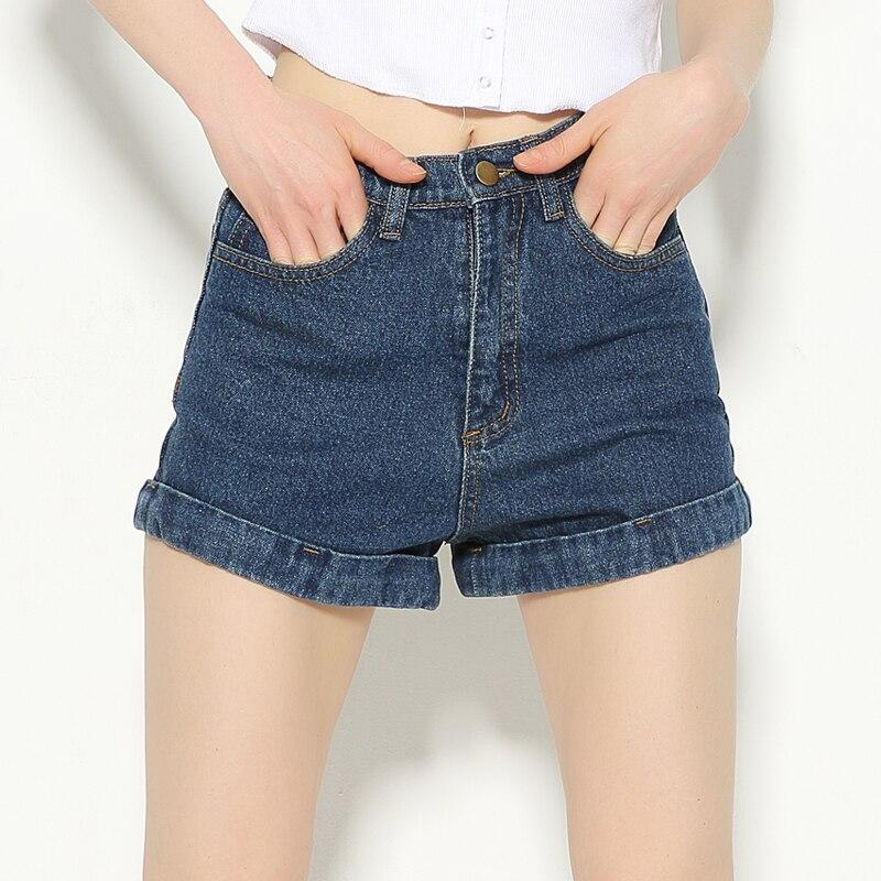 Vintage Denim   Shorts   Women High-Waist Rolled Hem Denim   Shorts   Girls Sexy Denim   Shorts   Plus Size 29   Shorts   For 4 Season