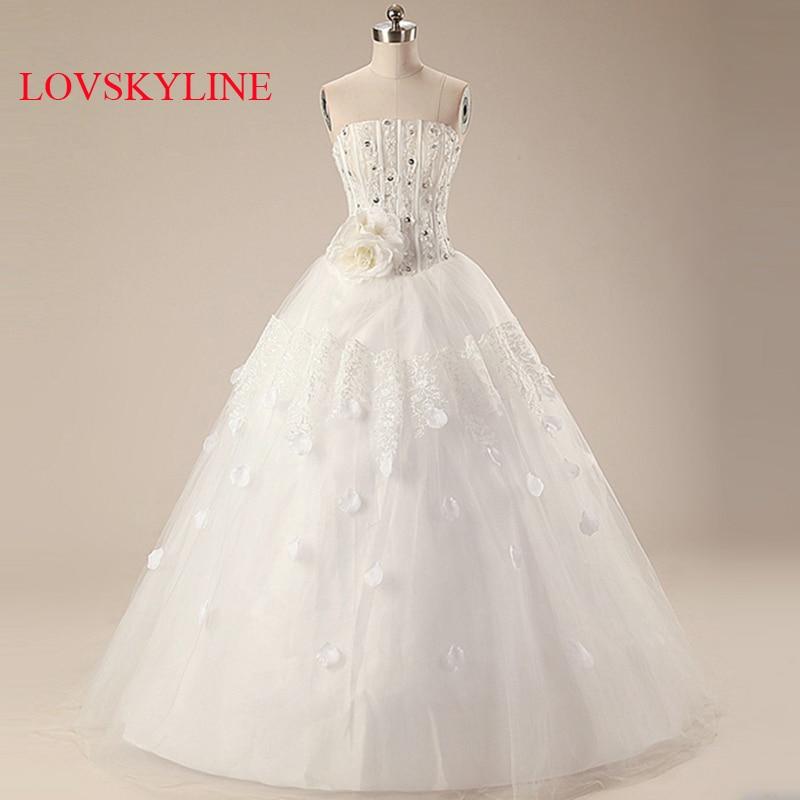 2017 Sweet Princess Straps Wedding Dress Tube Top Plus