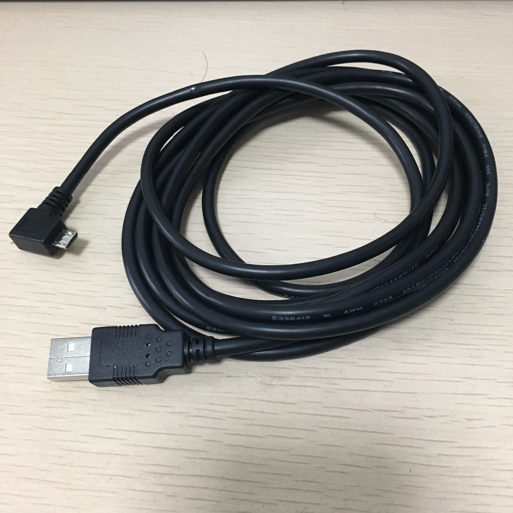 3m Left Angle 90 Degree 5Pin Micro B Male to USB 2.0 A Male Adapter Converter Long Data + Charge Cable Cord 90 degree usb micro usb kabel charge usb to micro usb spring cable data sync charger cord coiled cabo b left for samsung phones