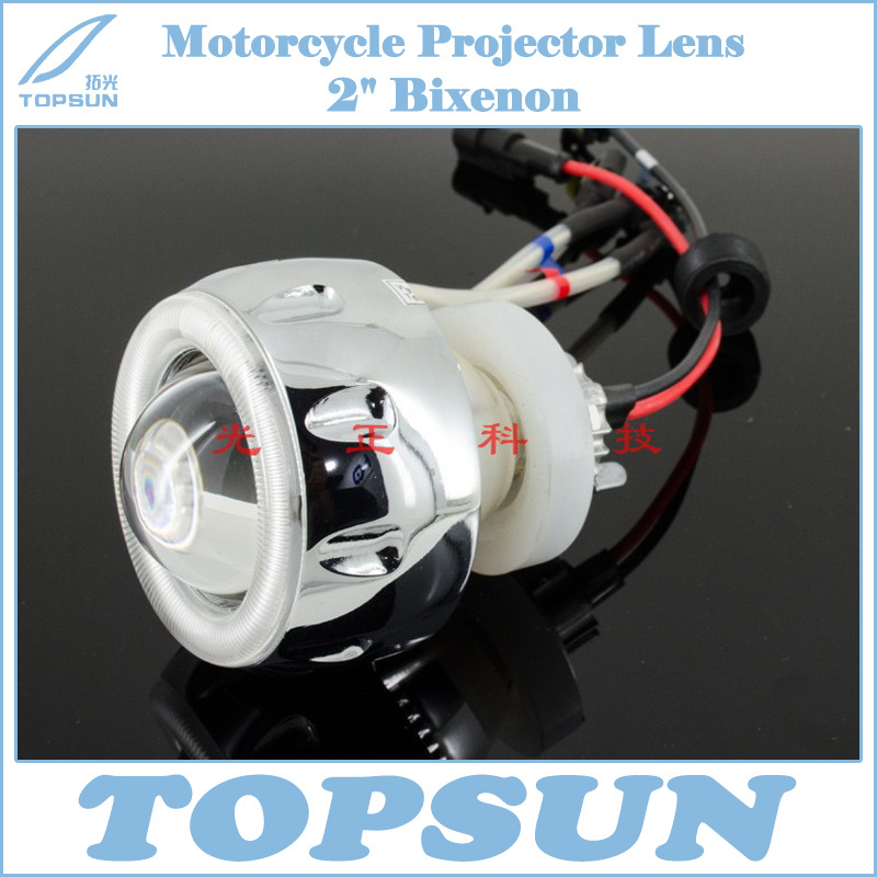Motorcycle Parts Full Set Lamp 2.0'' HID Bixenon Headlight Projector Lens Bulb LED Angel Eye For Suzuki Yamaha Kawasaki Honda mw light олимп 2 318020801