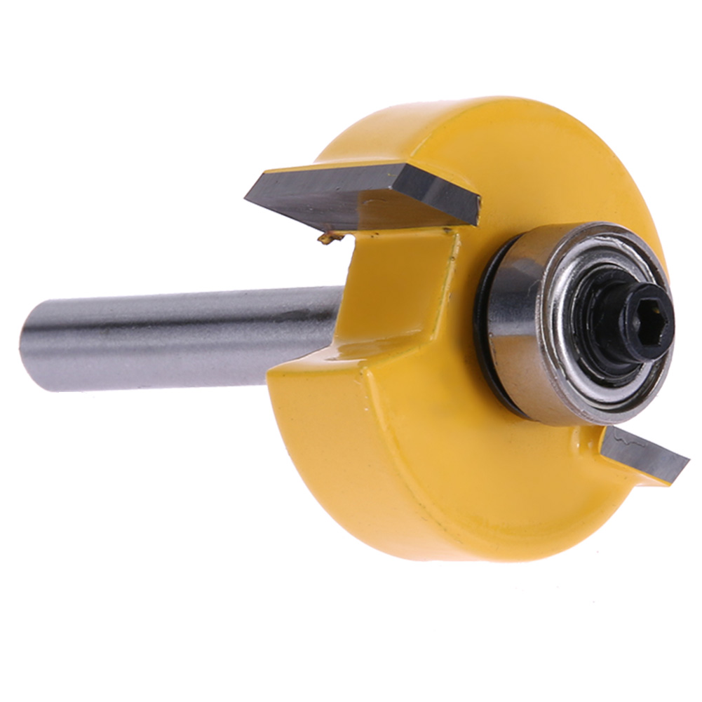 High-Grade Milling Cutter Woodworking Tool welding stable Alloy blade Ball Carbide T-knife 1/4 1/2mm Machine Tools Home high grade carbide alloy 1 2 shank 2 1 4 dia bottom cleaning router bit woodworking milling cutter for mdf wood 55mm mayitr