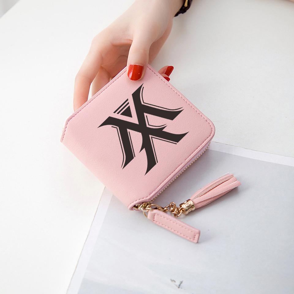 MONSTA X Kpop  Accessories Women Wallets Short Zipper card wallet women Wallets and Purses Mini Bags Stylish Wallets
