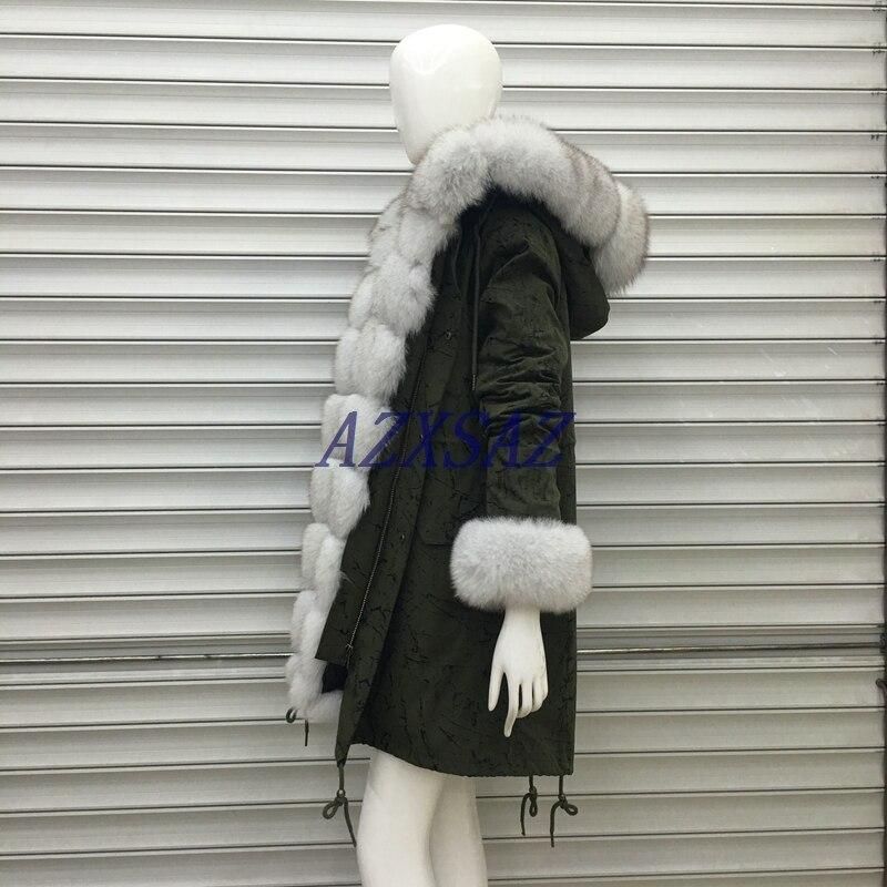 D'hiver Fourrure Collier De Grand En Doublure Parka Naturel Manteau Femmes Réel Renard Survêtement Long Lisidun2018fur Laveur Veste Parkas Raton q718wt7g