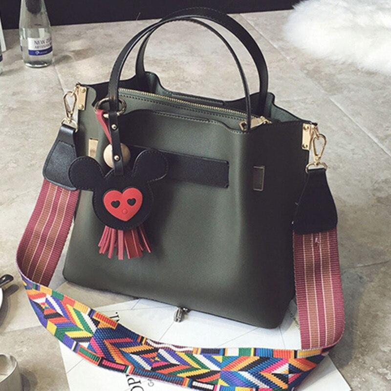 ФОТО Women's handbag  female picture bucket bag fashion multicolour shoulder strap shoulder bag