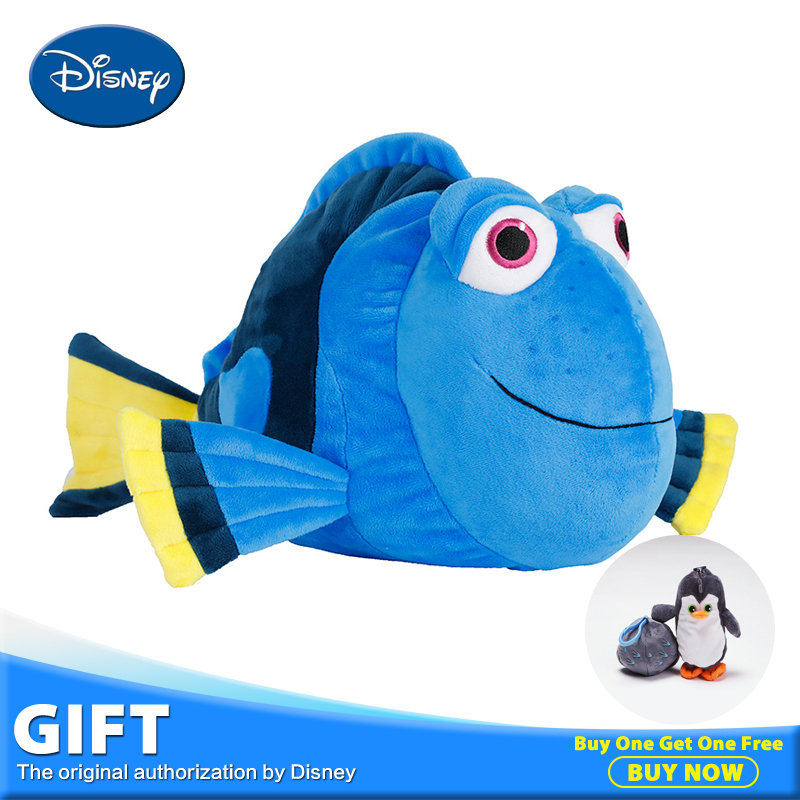 Disney Dory Fish Plush Stuffed Doll Toy Pillow Cushion With Portable Rest Warm Blanket Children Gift Toys Peluches Juguetes cartoon dog plush pillow shiba inu toys for children gift contain plush flannel blanket bedroom cushion