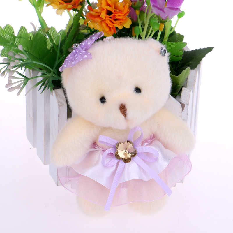 Brinquedos para meninas bonito adorável urso de pelúcia brinquedos boneca criança boneca buquês de flores urso para presente de natal boneca ursos bonitos